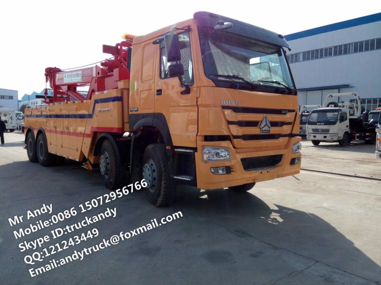 howo 50 ton rotator wrecker truck for sale view rotator wrecker truck howo product details. Black Bedroom Furniture Sets. Home Design Ideas