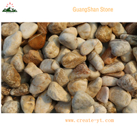 China supply yellow color pebble ball and cobble stone paving stone pavers