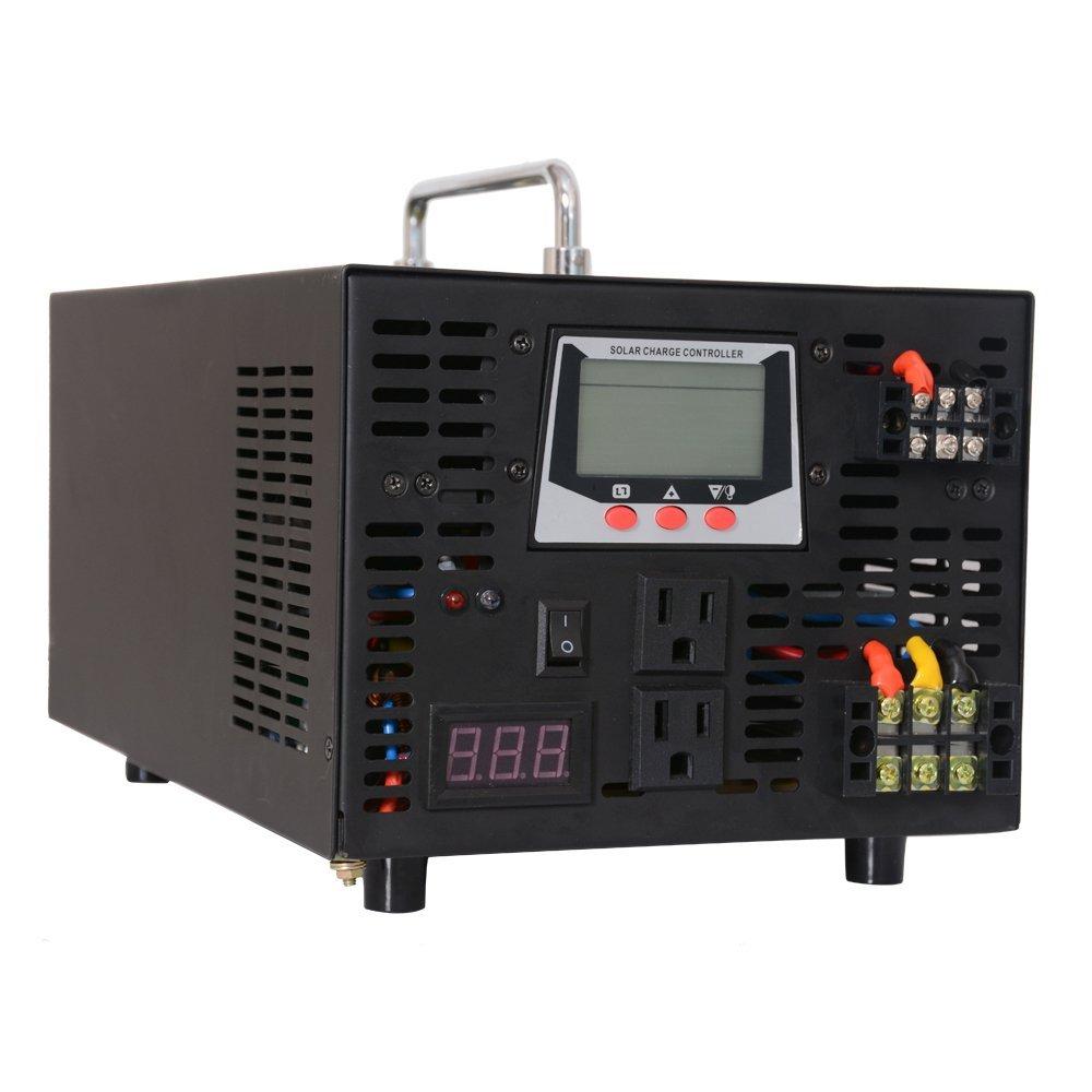 WZRELB 3000W 24V 120V Pure Sine Wave Power Inverter 30A Solar Charge Controller Portable Solar System