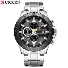 Люксовый бренд кварцевые фирмы carren часы хронограф из нержавеющей стали наручные часы спортивные мужские часы мужские повседневные деловые...(Китай)