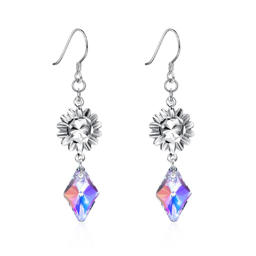 de25ba86293c Genuino Cristal swarovski pendientes con LEKANI cristales de Swarovski  elemento 925 joyería de plata esterlina