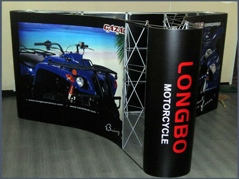 Show-Werbung Pop-up-Banner-Display, Messestand