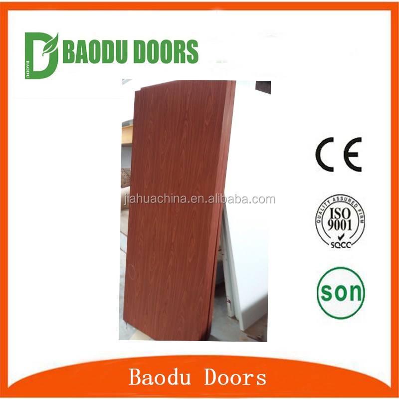 China professional door manufacture wholesale cherry and white color plywood door with very low price
