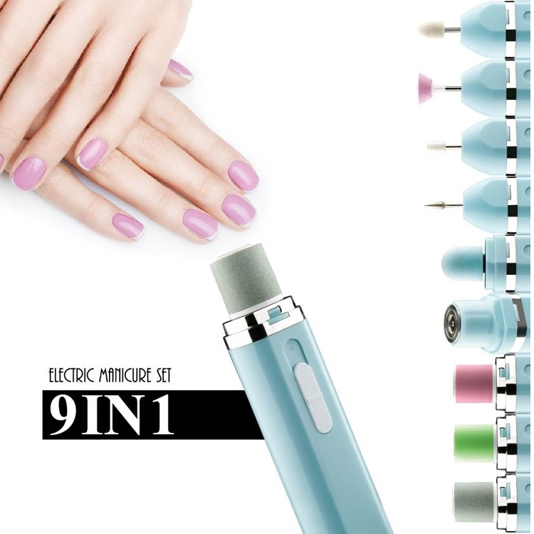 Home Battery Operated Manicure Set Electric Nail File - Buy Nail ...