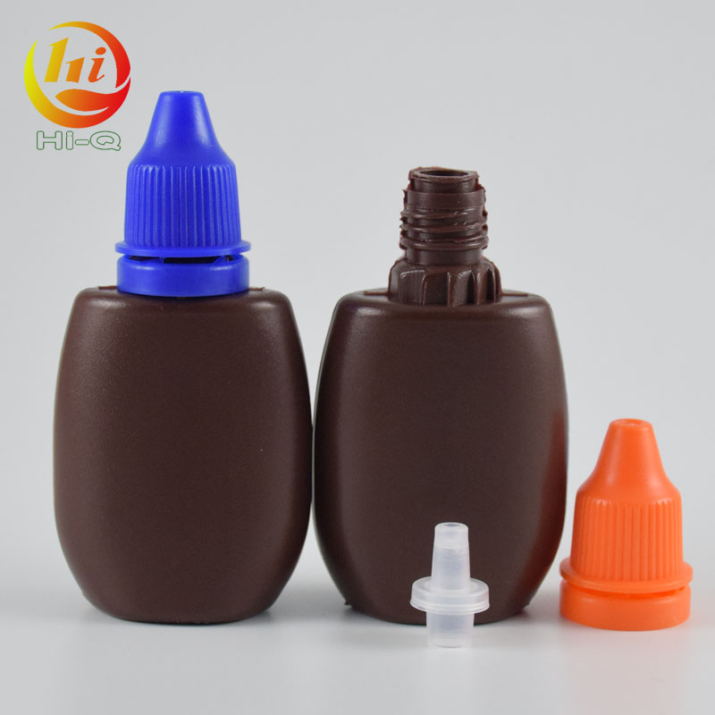 HDPE amber plastic bottles wholesale soft plastic 20ml eye dropper bottle e liquid juice