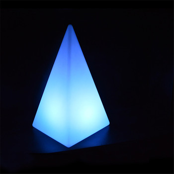 Color Changing Remote Led Pyramid Light Table Lamp Mood Spoon Multicolor