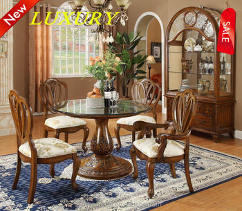 8009C-25-french style dining table dining table set wood dining ...