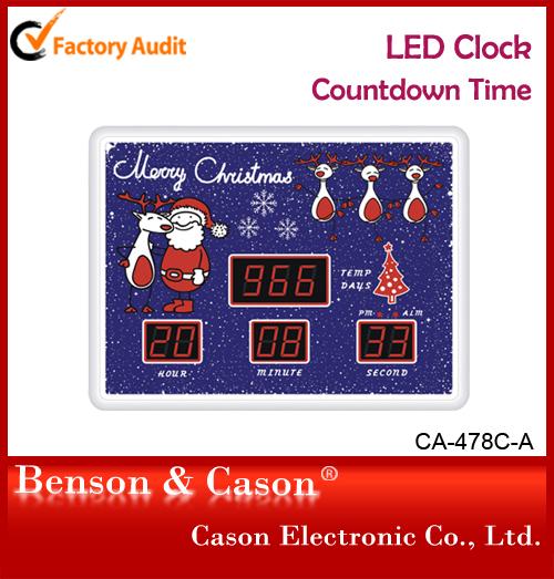 cason christmas countdown time led digital wall clock buy countdown time clockchristmas decorationwall clocks product on alibabacom