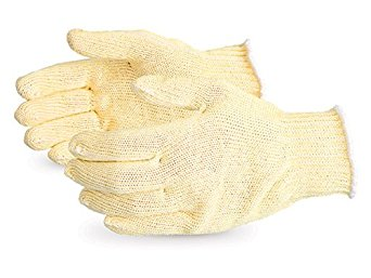 Superior SKGC Contender Economy Polyester/Silica-Infused Fiber/Aramid Composite Knit Glove, Work, Cut Resistant, 7 Gauge Thickness, Large (Pack of 1 Pair)