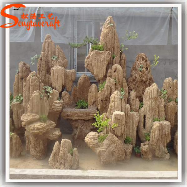 Chinese manufacturer high quality fiberglass large outdoor for Large garden stones for sale