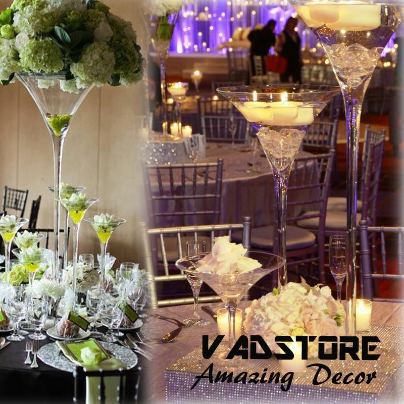 24martini Glass Vase Wedding Table Centerpiece Flower Holder Centerpiece View Unique Glass