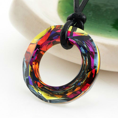 100% Austrian Crystal Pendant 20mm Dichroic Jewelry