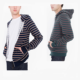 Customized men clothing stripe french terry zip hoodie wholesale Striped Fleece Zip Hoodie