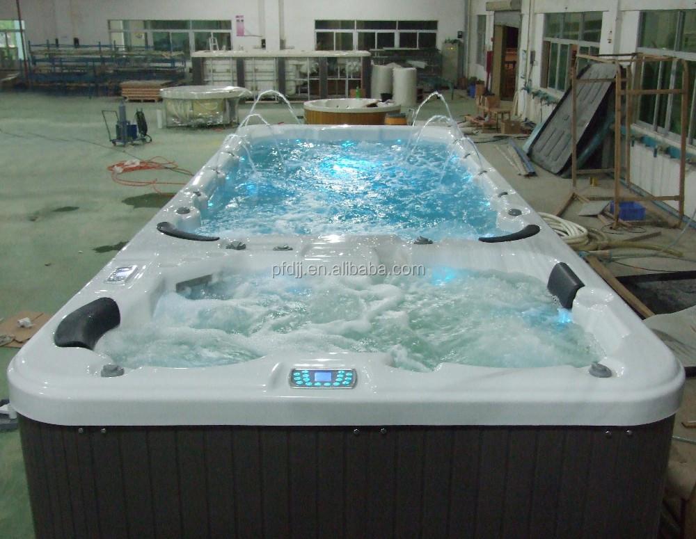 Outdoor Whirlpool Big Swim Spa Massage Hot Tub Fibreglass