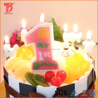 fashion white birthday number candles