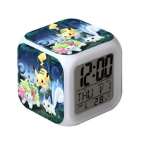Christmas gift for Children High Quality Round Silent Light Day Smart Alarm Clock from C-tech Company