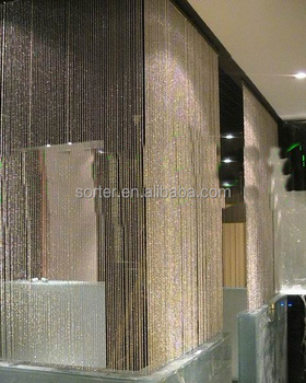 Metal Ball Chain Curtain In Home Decor For Screen Room Divider