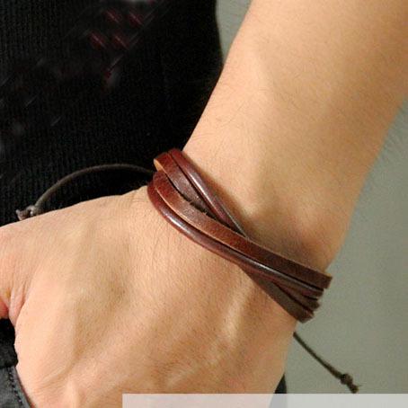 Мода ручной браслет год сбора винограда британский стиль многослойная конопли веревки ремешок из натуральной кожи браслет панк мужчины женщины браслеты