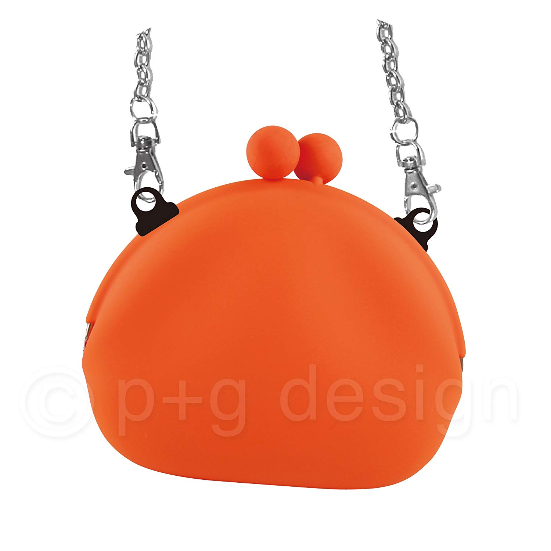 P+g design Pochi-Mon+ Silicone Clutch Bag with Chain Shoulder Strap