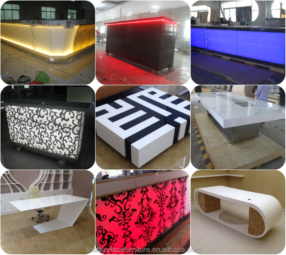 gallery of artificial stone solid surface night led light barled outdoor barcomptoir bar with. Black Bedroom Furniture Sets. Home Design Ideas