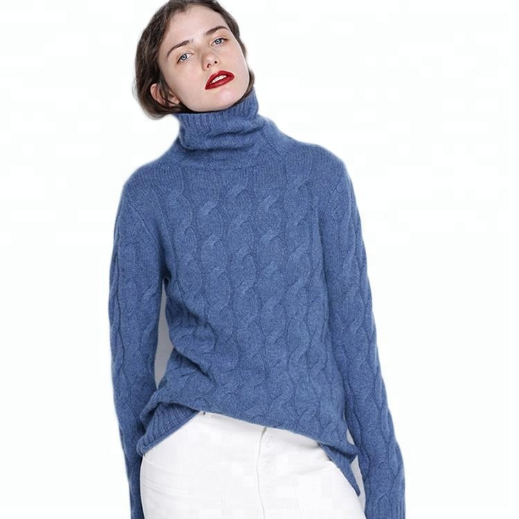 Custom Pure Winter Trui Vrouwen Coltrui Kasjmier Trui Jumper