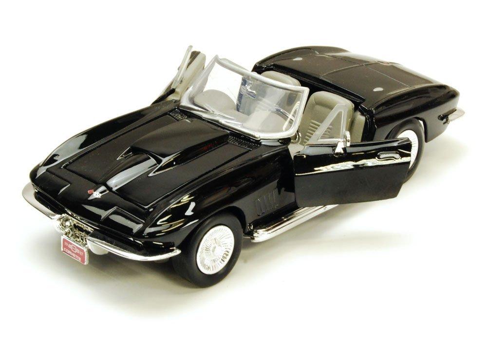1967 Chevy Corvette, Black - Motormax 73224 - 1/24 scale Diecast Model Toy Car