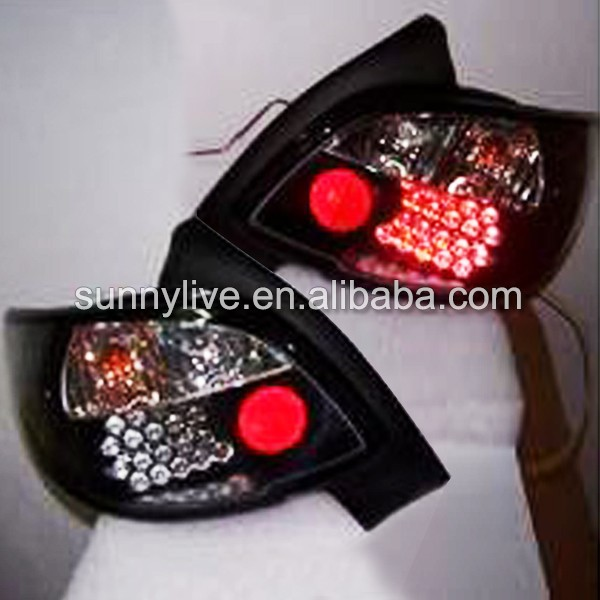 PEUGEOT 206 LED Tail Lamp Rear Lights 1998 Year-up Black Housing SN