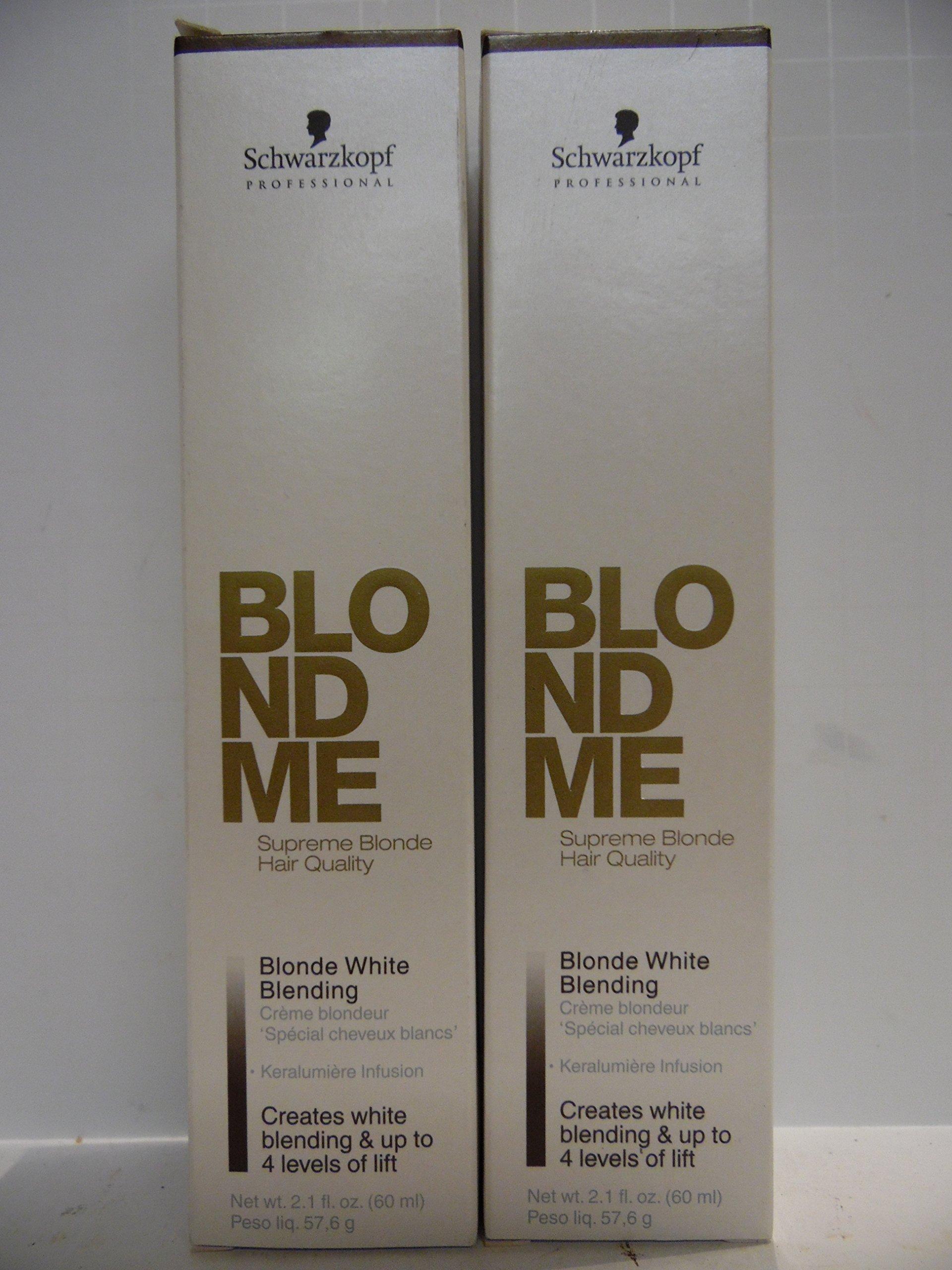 Schwarzkopf Blond Me Blonde White Blending Caramel (2 TUBES) 2.1 Oz Each Tube