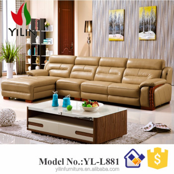 Furniture Living Room Sofa Set L Shape Synthetic Leather Victorian Sofa Sets