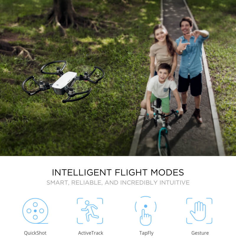 DJI Spark smart Photography drone with colorful