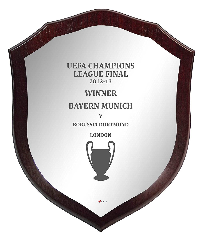 Wooden Shield Champions League Winner Bayern Munich 2012-13