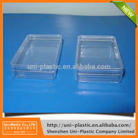 2017 most popular clear rigid plastic boxes with low price