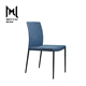 Modern leather dark blue comfy chair high back upholstered dining room chairs