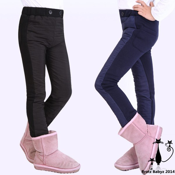 Get Quotations · Children s clothing 2014 winter female child leather pants  plus velvet skinny pants plus velvet thickening legging 6673a387c