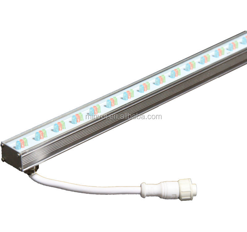 Dmx remote controlled rgb led linear light led strip facade wall decorating ip65 rgb dmx control Exterior linear led lighting