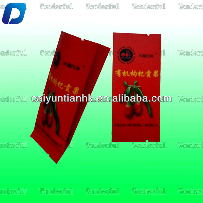 custom logo printed mini stand up aluminium foil coffee powder/tea/dry fruit bag manufactuer/foil bag with tear notch for food