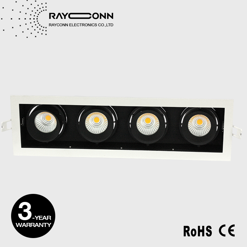4 heads led recessed ceiling Spotlight AR111 Grid light