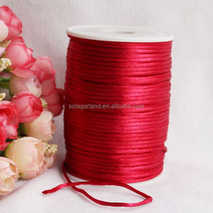 Rattail Cord Chinese/China Knot Rat-Tail Chinese Knot Satin Macrame Beading Jewelry stain silk cord