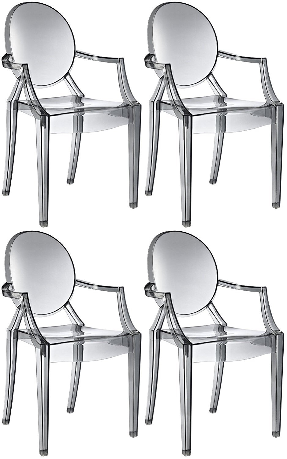 Get Quotations · Ghost Casper Dining Chair (SET Of 4) (Smoke)