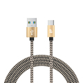 Braided Micro USB Cable For Android Samsung OEM charging cable for iphone