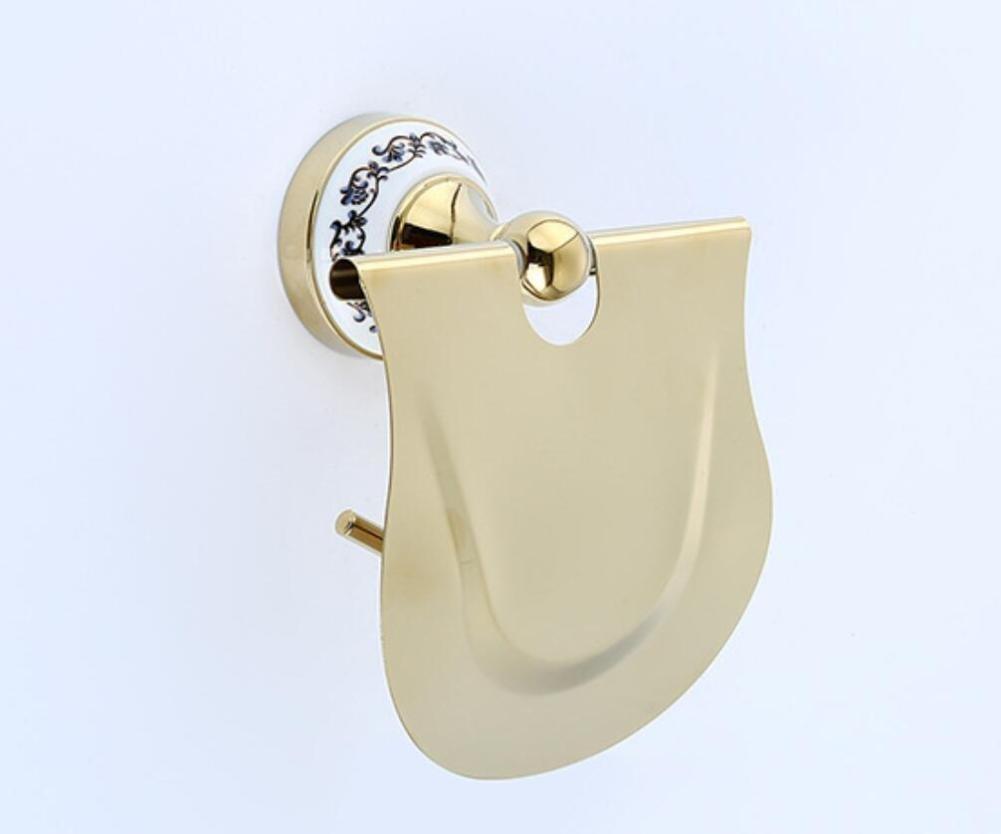 Stainless Steel Top Of Range Paper Holder Wc Door-Paper Napkins Gold Pendant Paper Framework Equipment Of Bath