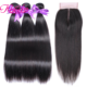 kbeth 9a grade mink brazilian hair straight bundles with closure virgin remy wholesale human hair from factory price