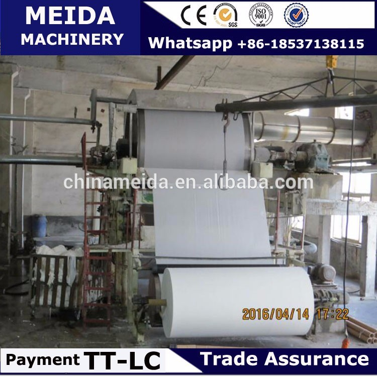 High frequency how much is tissue toilet paper making machine With Recycle System