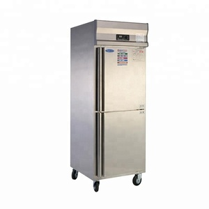 hotel used stainless steel double door refrigerator with freezer