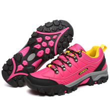 female stylish design pu climbing outdoor shoes wholesale,red color women mountain treckking shoes online