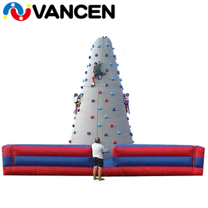 Factory price inflatable climbing tower outdoor sport games high quality inflatable rock climbing wall with holds for kids