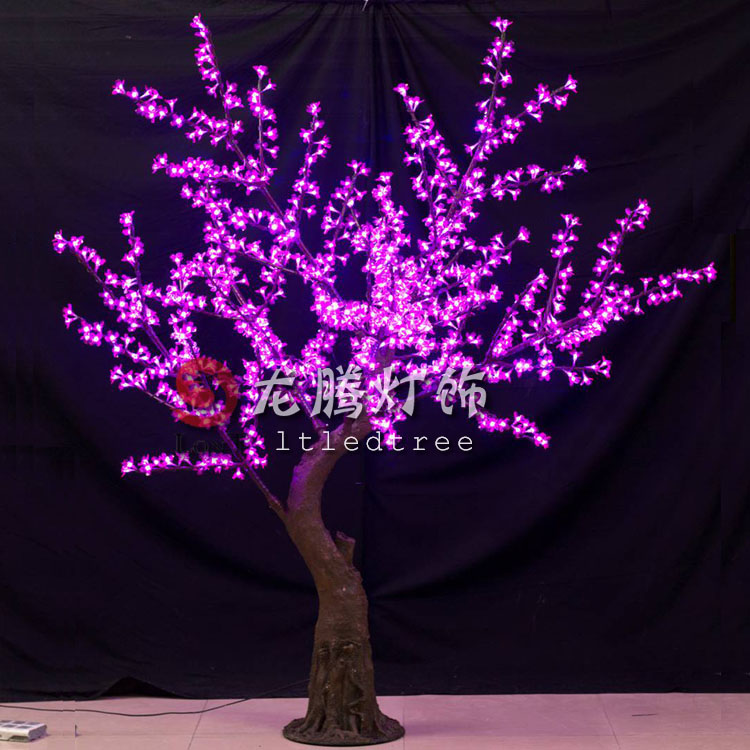 2m Led Cherry Blossom Trees Purple Color