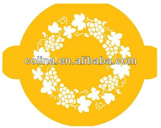 Ring of Grapes Flexible elegant Cake stencil