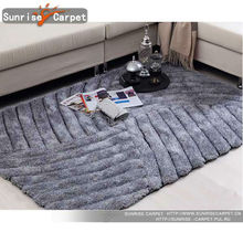 3D polyester soft bedroom rugs