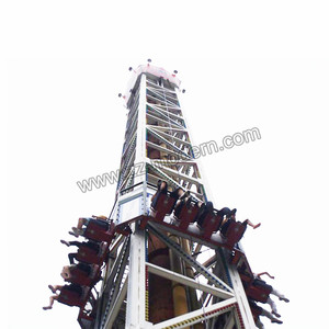 Manufacturer Service Amusement Game Rides cheap price thrill drop Free Fall Tower Driver rides for sale